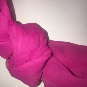 Bright fushia  colored scarf